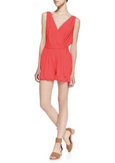 T Bags Bubblegum Sleeveless Short Jumpsuit, Pink