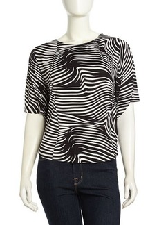 T Bags Dolman-Sleeve Swirl Striped Top