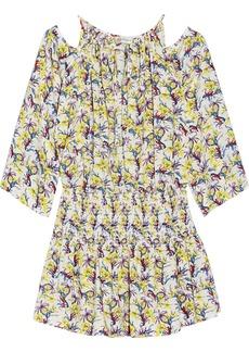 T-Bags Floral-print voile mini dress