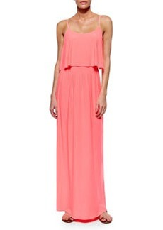T-Bags Flowy-Bodice Maxi Dress, Neon Pink