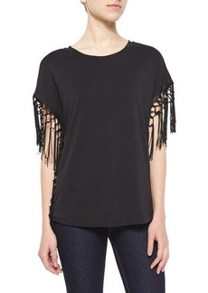 T Bags Fringe Jersey Top
