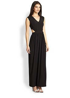 T-bags Los Angeles Cutout-Waist Maxi Dress