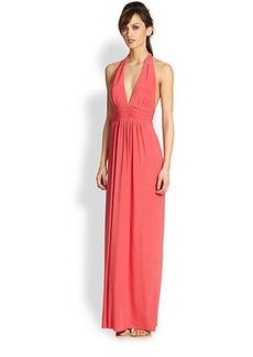 T-bags Los Angeles Halter Maxi Dress