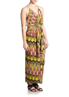 T-bags Los Angeles Jersey Multi-Print Maxi Dress