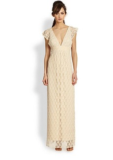 T-bags Los Angeles Low-Back Lace Maxi Dress
