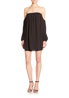 T-bags Los Angeles Off-The-Shoulder Layered Long-Sleeve Dress