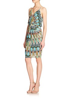 T-bags Los Angeles Printed Knotted Blouson Dress