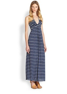 T-bags Los Angeles Striped Halter Maxi Dress