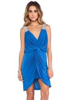 T-Bags LosAngeles Asymmetric Hem Knot Front Dress