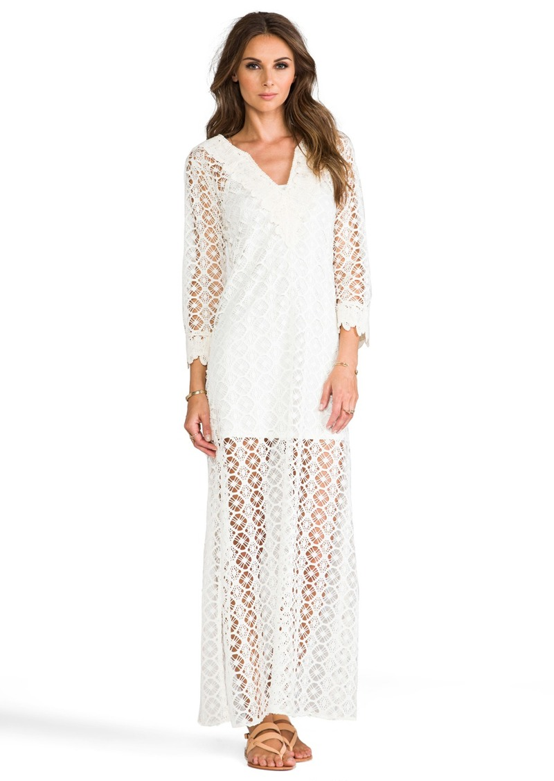 T-Bags LosAngeles Crochet Long Sleeve Maxi Dress