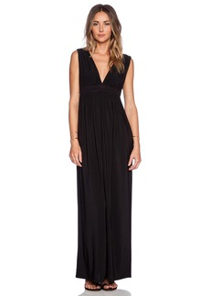 T-Bags LosAngeles Deep V Maxi Dress