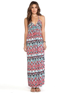 T-Bags LosAngeles Deep V Maxi Dress in Red