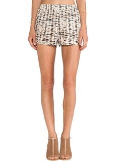 T-Bags LosAngeles Dolphin Hem Shorts in Brown
