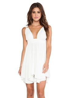 T-Bags LosAngeles Flirty Hem Tank Dress in Ivory