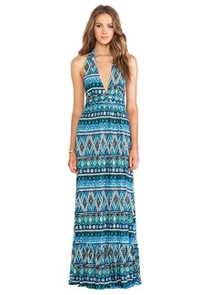 T-Bags LosAngeles Halter Maxi Dress in Blue