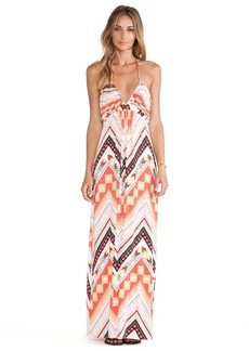 T-Bags LosAngeles Halter Maxi Dress in Coral