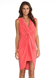T-Bags LosAngeles Knot Dress in Coral