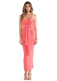 T-Bags LosAngeles Knot Front Maxi Dress in Coral