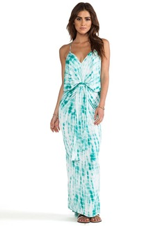 T-Bags LosAngeles Knot Front Maxi Dress in Turquoise