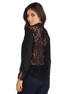 T-Bags LosAngeles Lace Back Blouse in Black