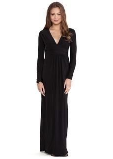 T-Bags LosAngeles Long Sleeve Maxi Dress in Black
