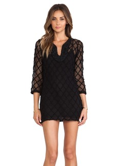 T-Bags LosAngeles Long Sleeve Mini Dress in Black