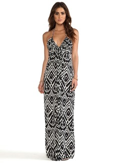 T-Bags LosAngeles Maxi Halter Dress in Black