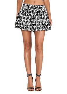 T-Bags LosAngeles Mini Shorts in Black & White
