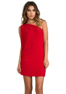 T-Bags LosAngeles One Shoulder Mini Dress in Red