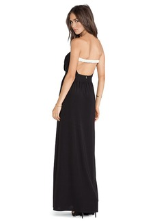 T-Bags LosAngeles Open Back Strapless Maxi Dress in Black