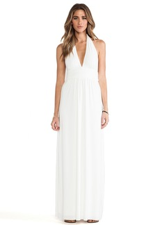 T-Bags LosAngeles Plunging Halter Maxi Dress