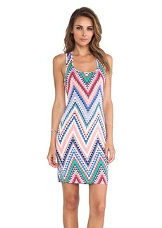 T-Bags LosAngeles Printed Tank Dress in Peach