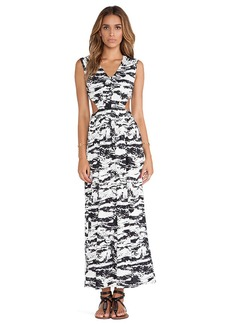 T-Bags LosAngeles Side Cut Out Maxi Dress in Black & White