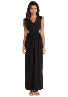 T-Bags LosAngeles Side Cut Out Maxi Dress in Black