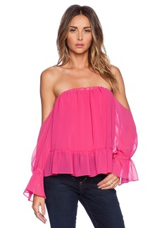 T-Bags LosAngeles Strapless Chiffon Top
