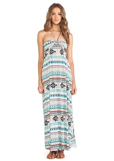 T-Bags LosAngeles Strapless Maxi Dress in Teal