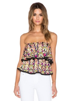 T-Bags LosAngeles Strapless Ruffle Tank