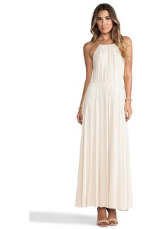 T-Bags LosAngeles Tank Maxi Dress with Tonal Hem and Trim