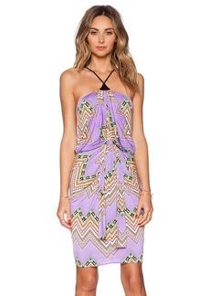 T-Bags LosAngeles Tie Front Halter Dress