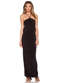 T-Bags LosAngeles Tie Front Halter Maxi Dress