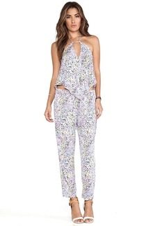 T-Bags LosAngeles Tie Front Jumpsuit in Purple