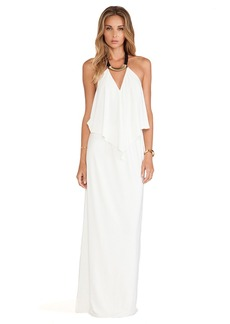 T-Bags LosAngeles Tie Front Maxi Dress in Ivory