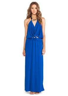 T-Bags LosAngeles Tie Front Maxi Dress in Royal