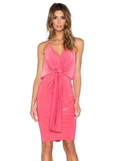 T-Bags LosAngeles V Neck Halter Dress