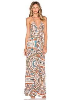 T-Bags LosAngeles V Neck Halter Maxi Dress