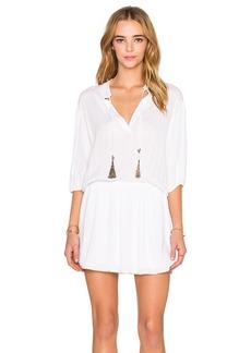 T-Bags LosAngeles V Neck Mini Dress