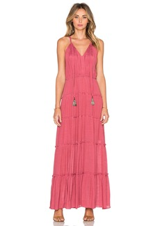 T-Bags LosAngeles V Neck Tassel Maxi Dress