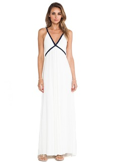 T-Bags LosAngeles Wrap Around Tie Maxi Dress in Ivory