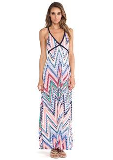 T-Bags LosAngeles Wrap Around Tie Maxi Dress in Peach