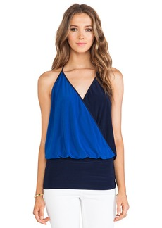 T-Bags LosAngeles Wrap Front Halter Top in Navy